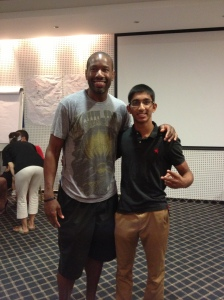 Anurag with former NBA player and current Assistant Coach of the Brooklyn Nets, Doug Overton