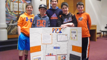 Ben, Matt, Nate, Eli and Max show their support for PPI